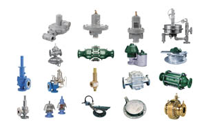 Grouping of pressure management products like regulators, pressure relief valves, and tank protection.